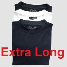 Mens extra long plain cotton T-shirt big & tall plus size nightwear pyjamas vest