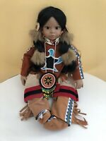 Timeless Collection Native American Indian Doll Limited Ed. Porcelain