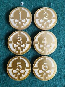 Warhammer 40K Gold acrylic objective markers