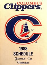 1988 Columbus Clippers Pocket Schedule