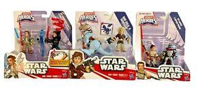 Star Wars Galactic Heroes Figures 3 sets Han Solo Tauntaun Rey Kylo Capt Phasma