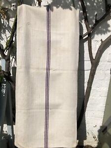 Beautiful Vintage Hemp Grain Sack Linen Hessian Material  Upholstery