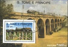 Sao Tome e Principe block211 (complete issue) used 1989 Locomot