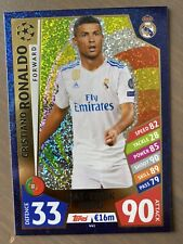Match Attax Champions League 17//18 Cristiano Ronaldo hat-trick Héros trading card