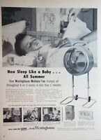 Lot of 3 Vintage Westinghouse Air Conditioner Fan Print Ad Mobilaire Streamliner