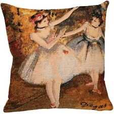 """DEGAS TWO DANCERS 45CM 18"""" LINED BELGIAN TAPESTRY CUSHION COVER WITH ZIP"""
