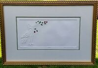 Professionally Framed JAN PETERSON EMBOSSED PRINT Sing A Song Signed 20/600