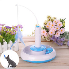 Pet Cat Toy Interactive Electric Feather Play Rotating Training Toy Kitten Funny