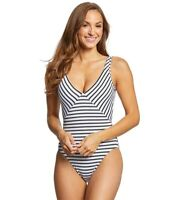 Polo Ralph Lauren Women's 236213 One-Piece Black/White Swimsuit Size XL