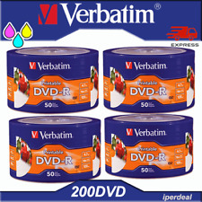 DVD-R VERGINI STAMPABILI VERBATIM DVD-R 4,7GB 16X 120MIN 50 100 200 PRINTABLE