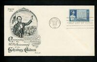 US FDC #978 Fleetwood M-27 1948 PA Abraham Lincoln Gettysburg Address Civil War