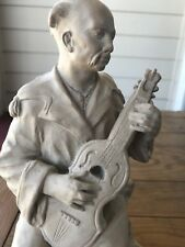 Austin Sculpture Of 'Lute Player' Made I. 1975 - Signed.
