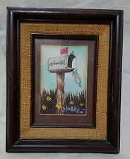 Vintage Watercolor Painting of Mailbox Artist L. Lavelle Cos tBirmingham Alabama