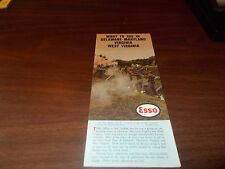 """1961 Esso """"What to See in DE/MD/VA/WV"""" Vintage 8-page Travel Brochure"""