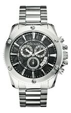 Marc Ecko Mens The Flash Chronograph Coin Edged Bezel Black Dial Watch M20020G2