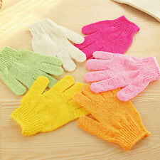 2Pcs Exfoliating Gloves Mitt Bath Shower Scrub Tan Dead Skin Removal Exfoliator