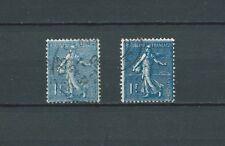 SEMEUSE - 1924-32 YT 205 et 205a - OBLITÉRÉS bleu et bleu noir