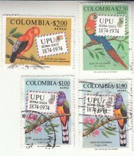 Colombia 1974. Upu 100 anniversary. Colombian Birds. Airmail. Used