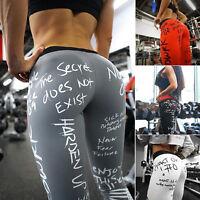 Women Sports Yoga Pants Ladies Leggings Running Gym Athletic Workout Trousers US