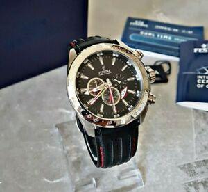 Festina Herrenuhr Uhr Armbanduhr Chronograph Edelstahl Tachymeter F16489