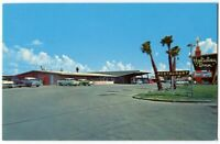 081712 Vintage Brownsville Tx Postcard 1950'S CARS Holiday Inn Motel