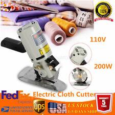 """3.5"""" Electric Cloth Cutter 90mm Fabric Leather Cut Machine Round Scissors Blade"""