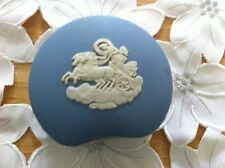 Vintage/Retro Wedgwood Blue Jasper Ware Kidney-Shaped Trinket Box