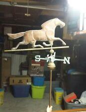 Vintage farm Weathervane Trotting horse, copper, Rare, unique, rustic, barn top.