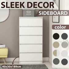 vidaXL Drawer Sideboard Chipboard Side Storage Buffet Cabinet Multi Colours