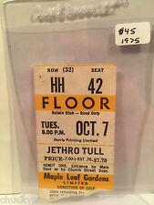 Jethro Tull Concert Ticket Stub 10-7-1975 Toronto Maple Leaf Gardens - Rare