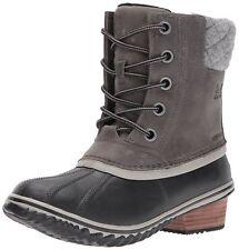 af5bc37e08fe Sorel Women s Slimpack II Lace Duck Boot 7.5 M Quarry Full Grain black