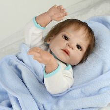 22in. Reborn Baby Doll newborn Full Body Vinyl Silicone Lifelike Dolls Boy Gift