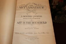 Antique The Art Amateur Monthly Journal 1895 To 1896-New York-Art Ads Photos