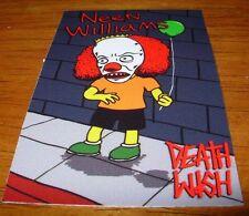 DEATHWISH Skateboards Sticker Toons NEEN WILLIAMS skate helmets decal