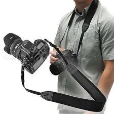 Black Adjustable Padded Skidproof Neoprene Camera Neck Strap for Nikon Canon