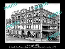 OLD LARGE HISTORICAL PHOTO OF NEWCASTLE NSW, VIEW OF IRELANDS BOND STORE c1890