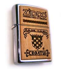 Zippo ZFC CROATIA 3-FIRST CLUB ROSEART EVER MADE! Limited Edition 50 MEGA Rare!