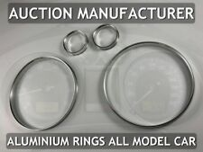Seat Ibiza III 2002-2008 Polished Aluminum Chrome Dial Rings for Counter x4