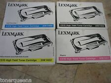 4 Genuine Lexmark C510 Color Printer HY Toner  20K1400 20K1401 20K1402 20K1403