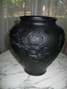 Vintage Tiffin Glass Orange Satin Vase Flower Arranger Openwork 1930s