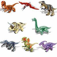 8x Dinos fit Jurassic World LEGO Dinosaur Tyrannosaurus TRex Park Raptor Toy OL