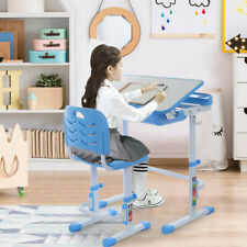Children Desk and Chair Set Height Adjustable Student Table Read/Write Desk Home