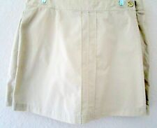 Dockers Women's  Skort size 8 100% Cotton khaki tan skirt with shorts