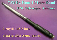 Ham Amateur Radio 4 Meter Band 70MHz BNC Telescopic Antenna