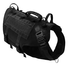 Military Tactical Strong Dog Vest Harness MOLLE for Large Dogs Hunting Training