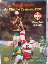 1992 Ulster Football Final programme Donegal v Derry