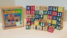 Schylling  - 47 Piece Wood Alphabet Blocks SMALL