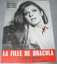 Affiche de cinéma : LA FILLE DE DRACULA de JESS FRANCO