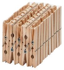 50er-Pack Wäscheklammern Klammern Holzwäscheklammern - Buchenholz