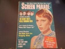 Mia Farrow, The Monkees, The Hassles - Screen Parade Magazine 1968